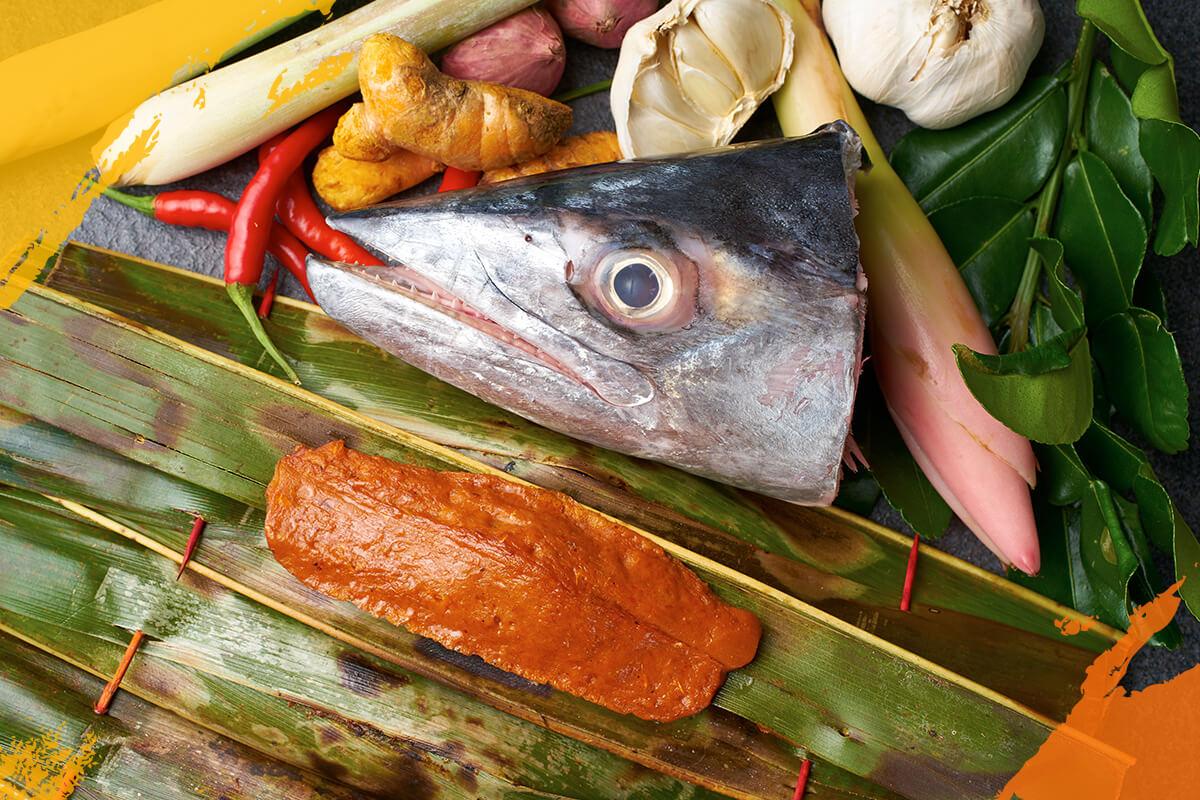 Fish Head Otah, Bones (Raw)